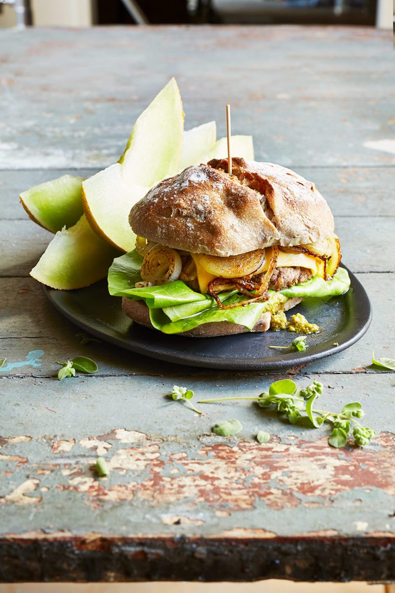 cheeseburger-melone-brot-lecker