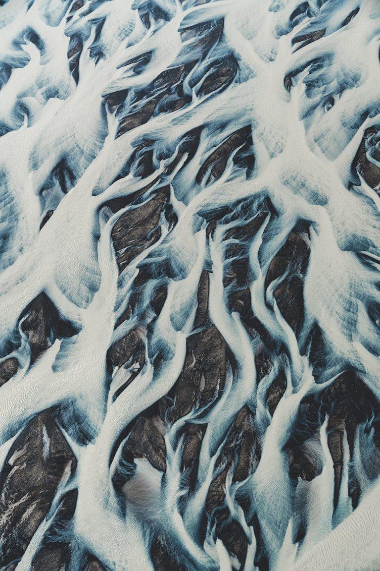 gletscher-fluss-struktur-weiss