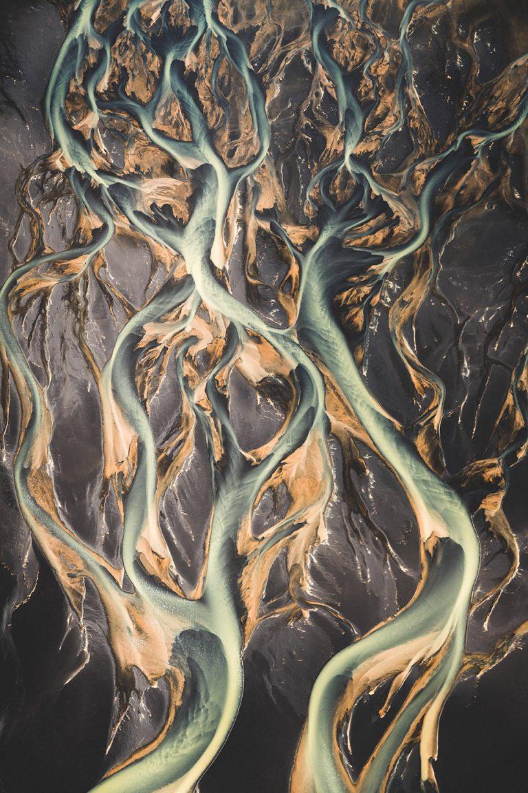 gletscherfluss-struktur-island