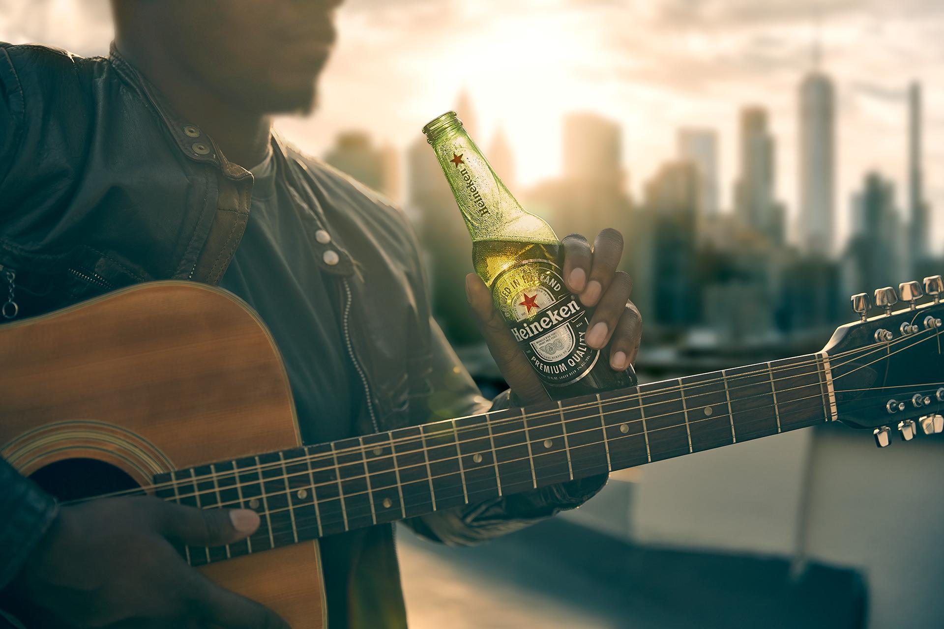 heineken-beer-bottle-guitar-rooftop