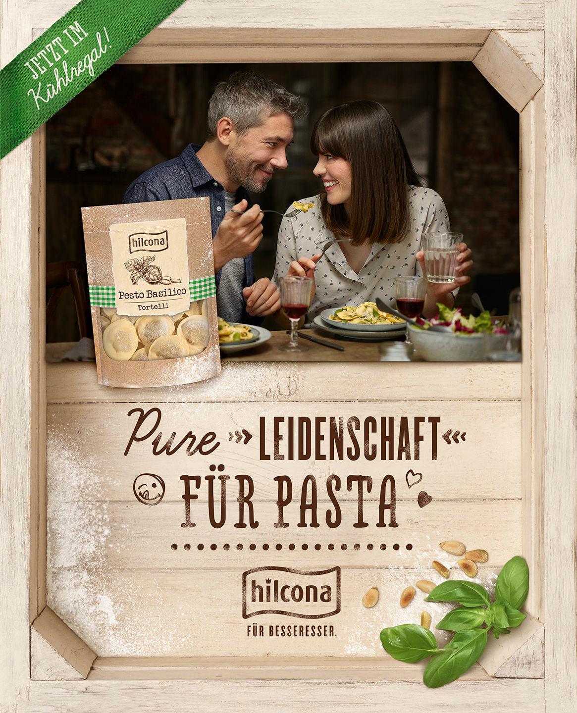 paar-pasta-genießen-kampagne-hilcona