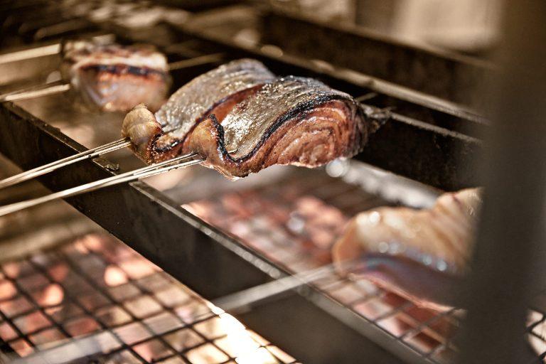 salmon-grilled-skewer-restaurant-zuma